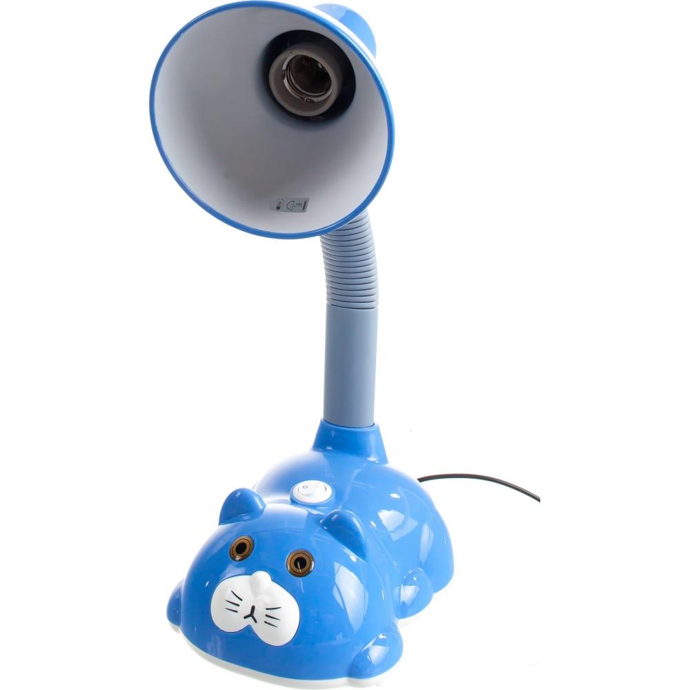 Настольный светильник camelion kd-385 c13 голубой 230в e27 12615