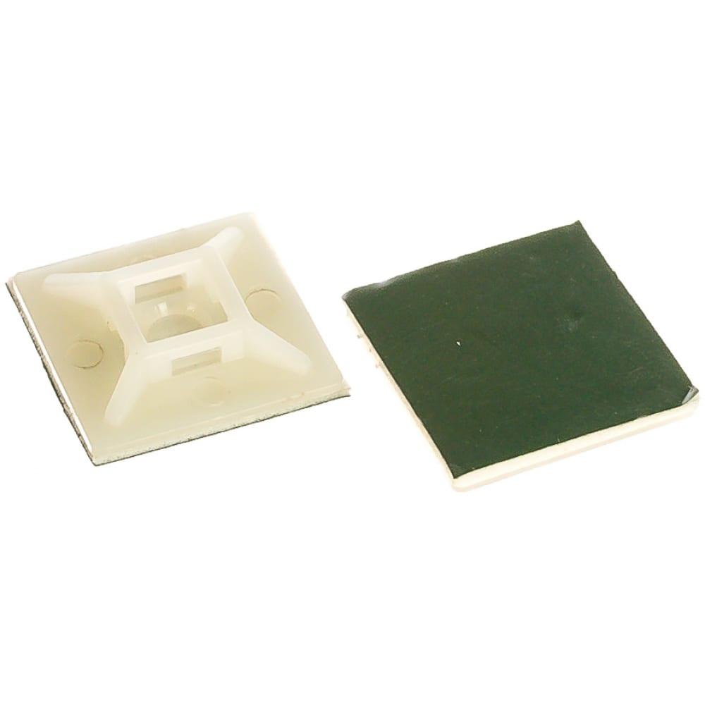 Купить Cамоклеящиеся площадка fortisflex пмс-о 28x28 белый 100 штук 70219