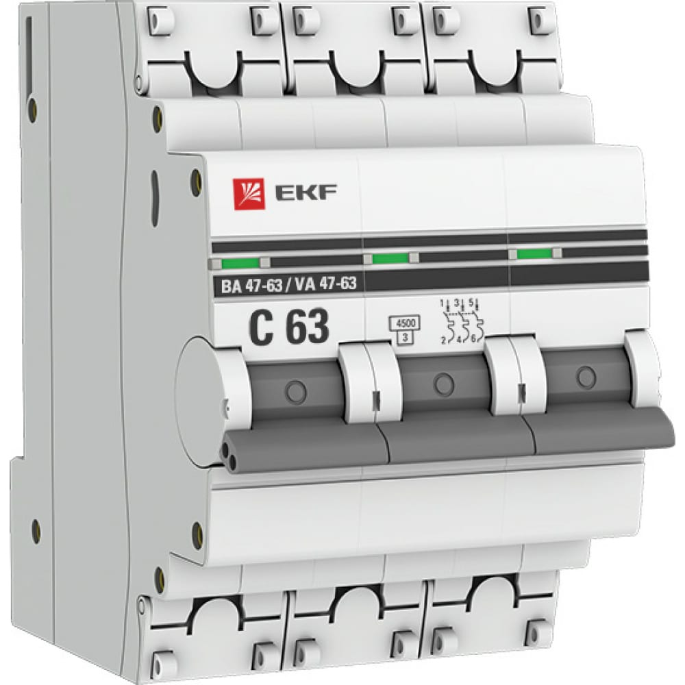 Купить Автоматический трехполюсный выключатель 40а с ва47-63 4.5ка proxima 3699787
