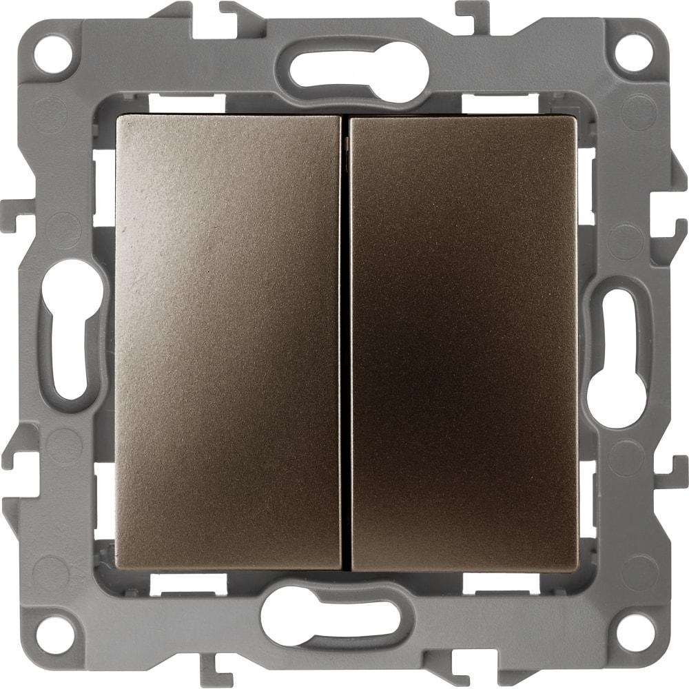Купить Двойной переключатель эра 12-1106-13 10ах-250в, ip20, бронза б0019296