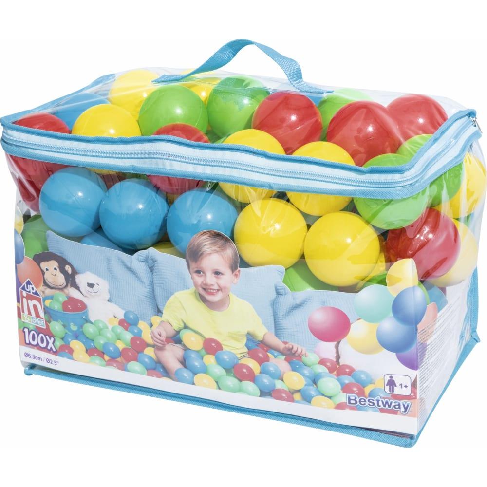 Пластмассовые мячи для игр bestway 6.5см, 100шт