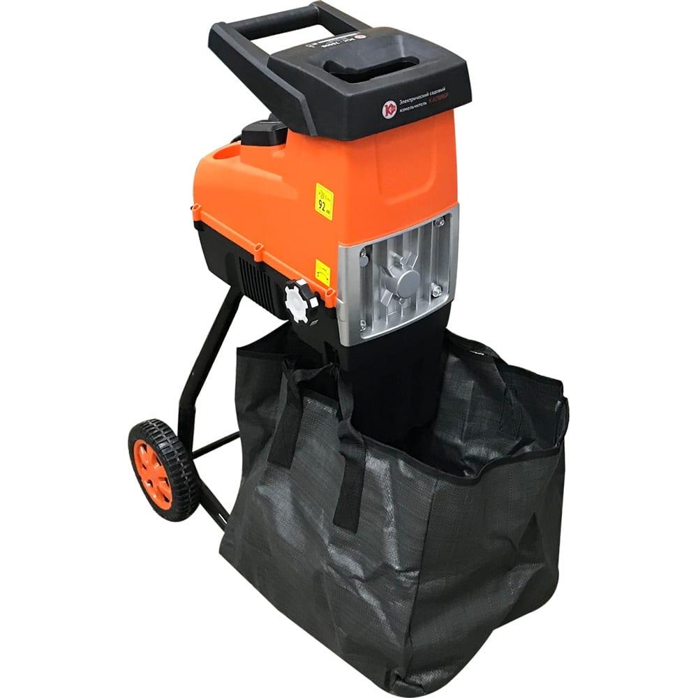 Электрический садовый измельчитель калибр эси-2800в 00000070026