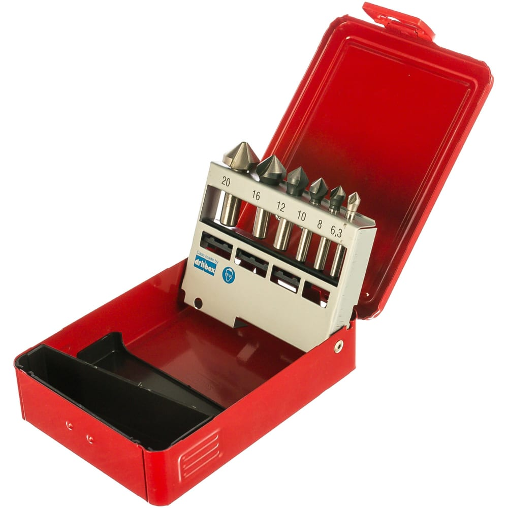 Набор из 6 зенкеров (6,3; 8; 10; 12;16; 20) bucovice tools 741805