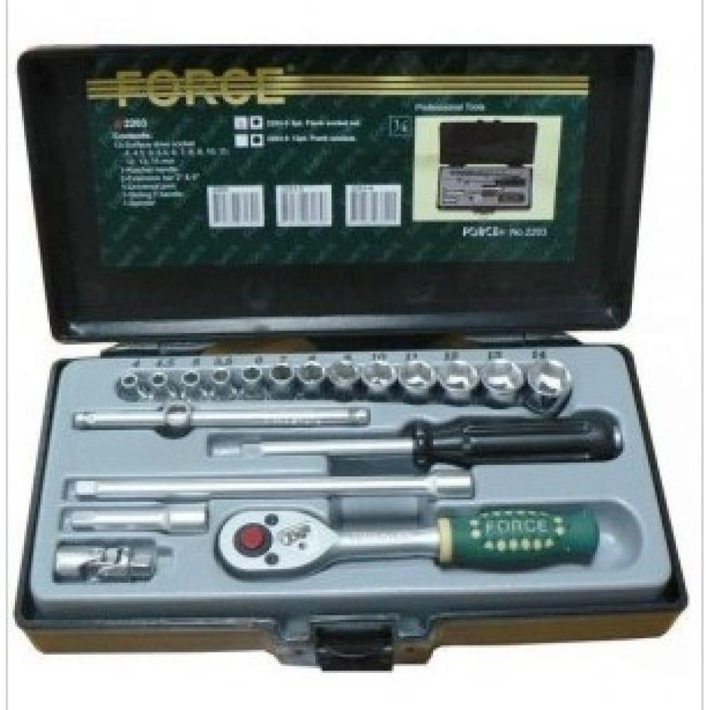 Набор 6-ти гранных головок и инструмента force 2203-5