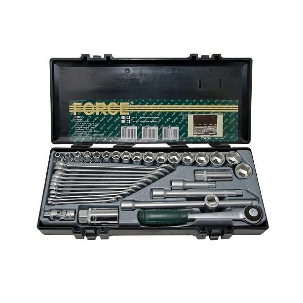 Купить Набор 6-гранных головок, приспособлений и комбинированных ключей force 3361