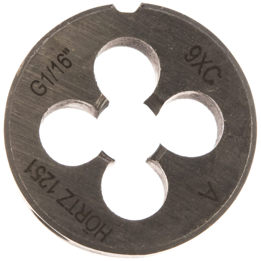Трубная цилиндрическая плашка g 1/16 дюйма 9хс hortz 204127