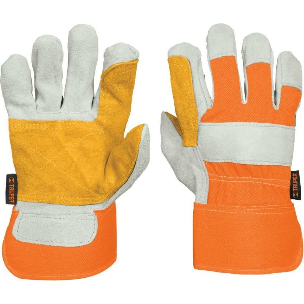 Купить Рабочие перчатки truper усиление на ладонях, подкладка из полиэстера gu-teca-r 14246