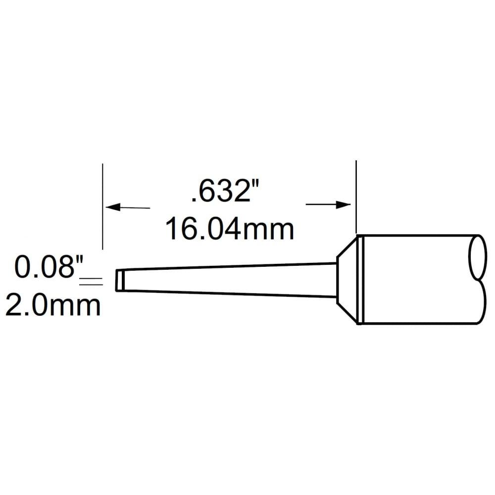 Наконечник (2.0х16.04 мм; клин удлиненный) для