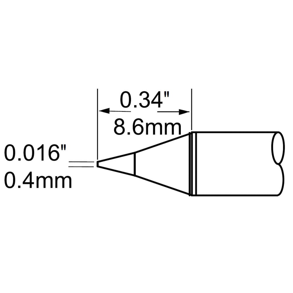 Наконечник (0.4х8.6 мм; конус) для mfr