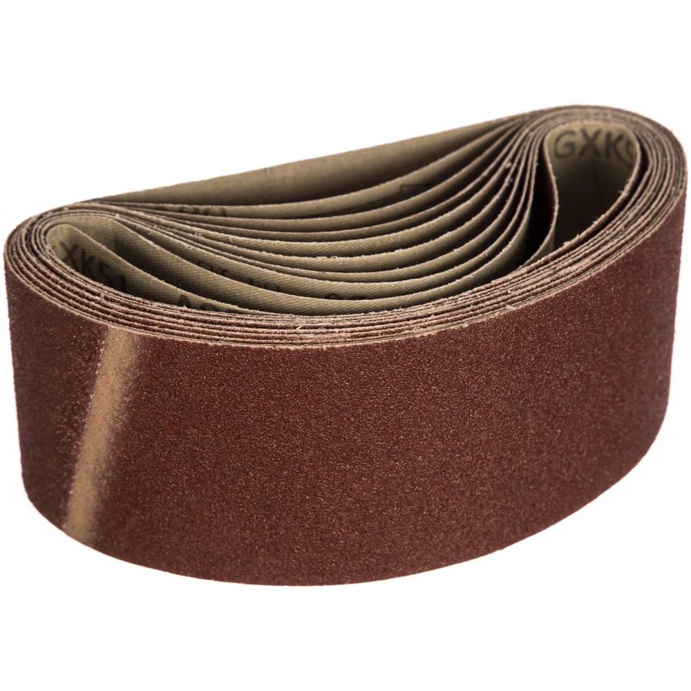 Купить Шлифовальные ленты лб 75х457 мм, а80, 14а, 10 шт. tsunami d76107545714080