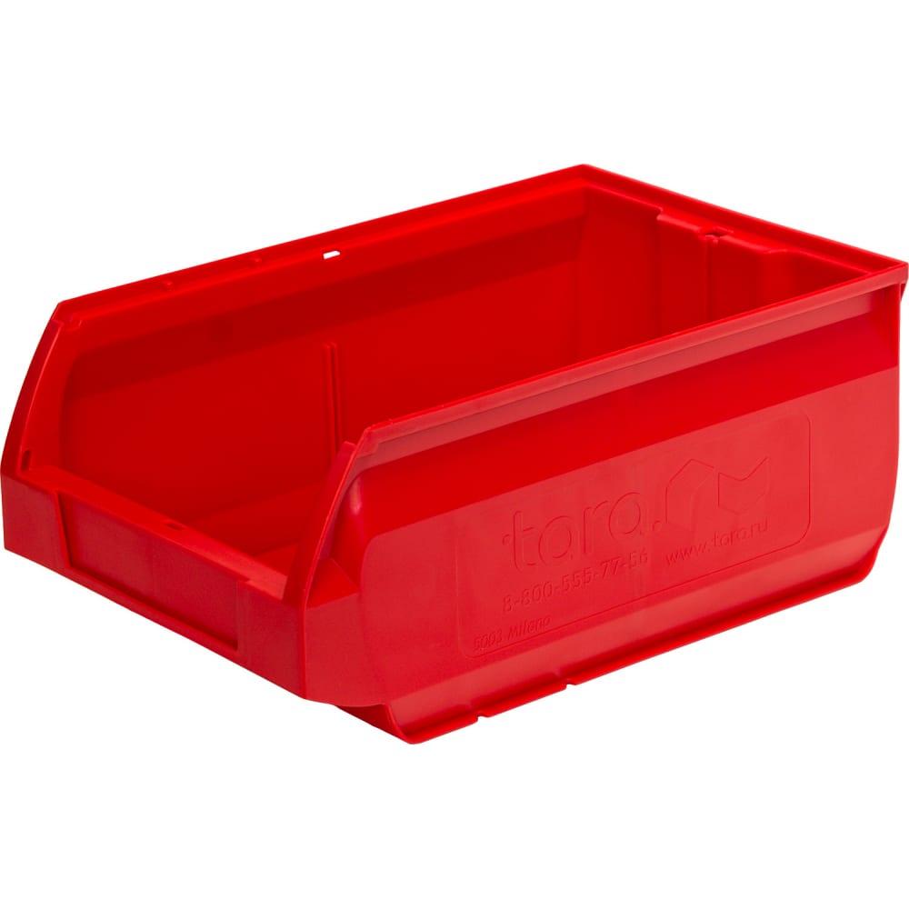 Ящик тара milano 350х230х150 мм, красный 10038