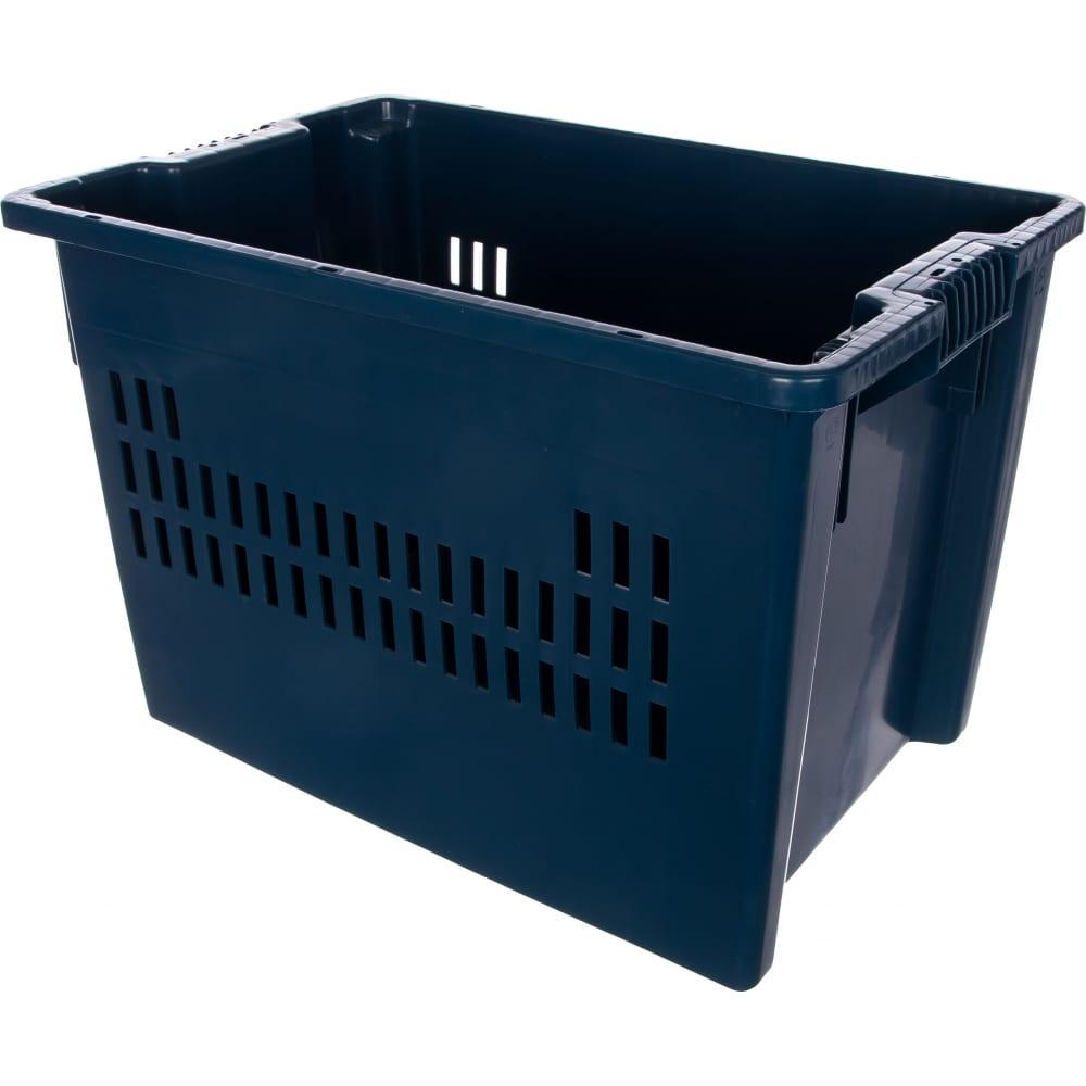 Ящик тара 600х400х400 мм, синий 05954