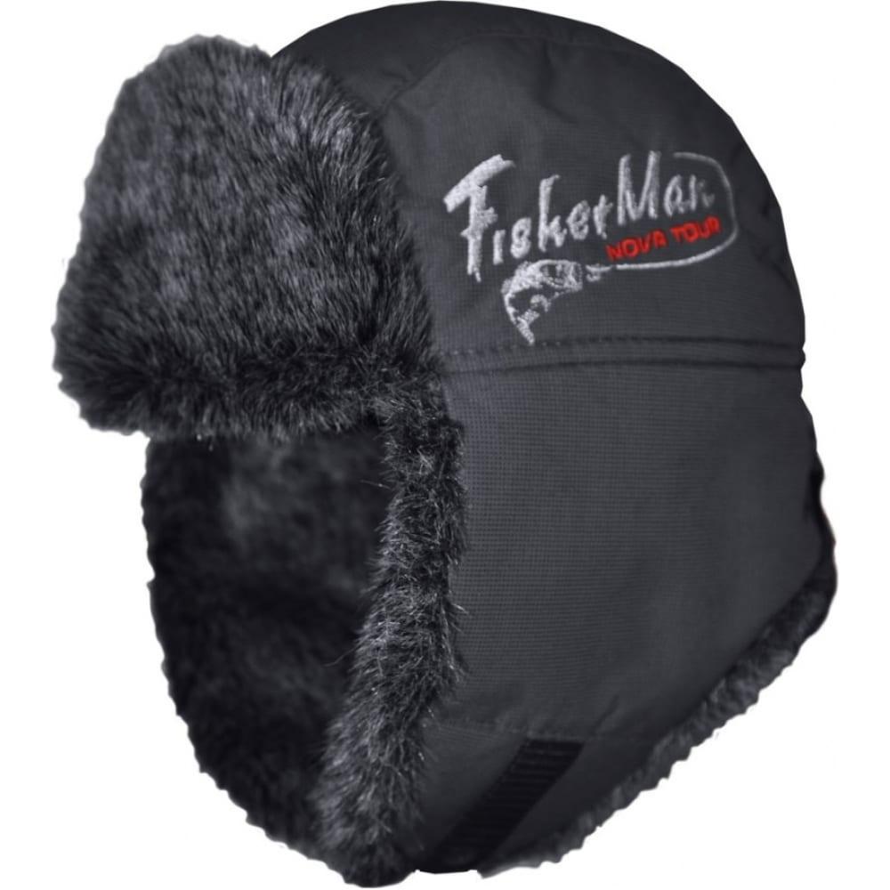 Шапка-ушанка fisherman nova tour тепор м v2, черная, р. 57 95863-901-57