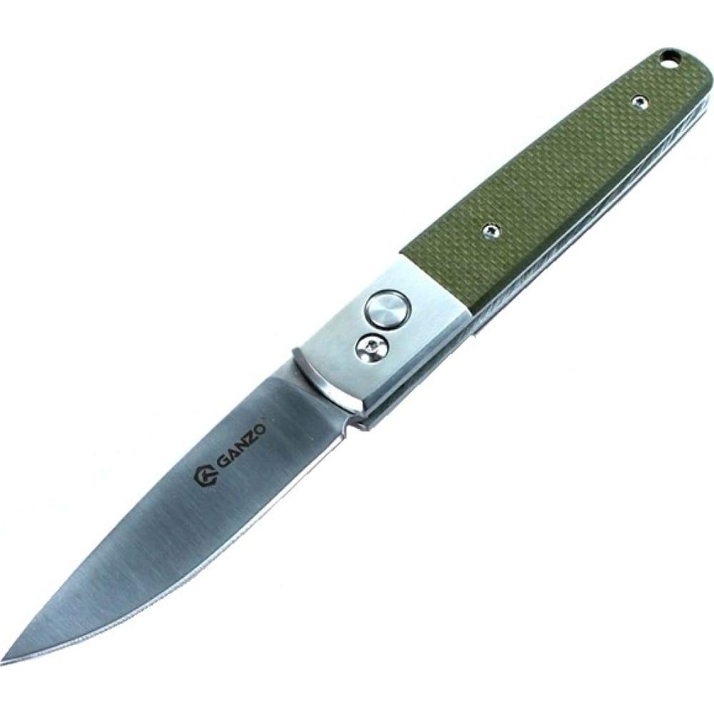 Нож ganzo g7211 зеленый  - купить со скидкой
