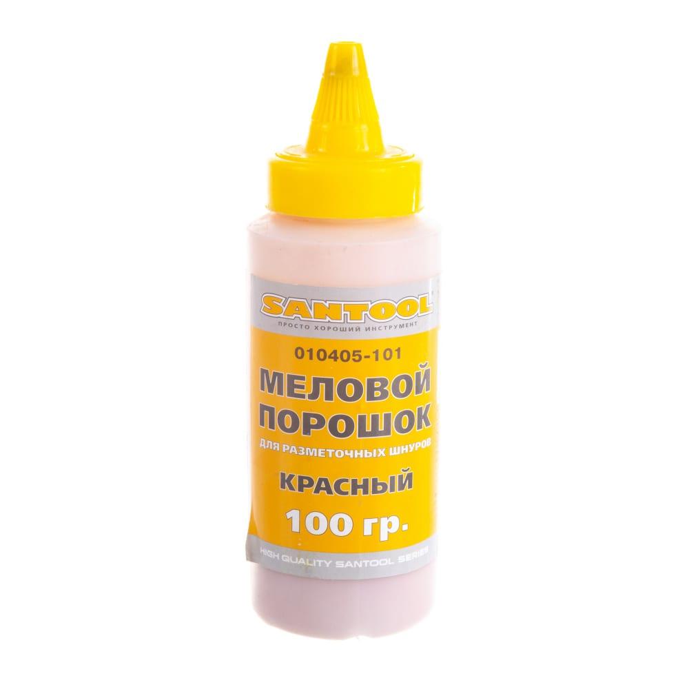 Меловой порошок 100 гр для разметочных шнуров красный santool 010405-101