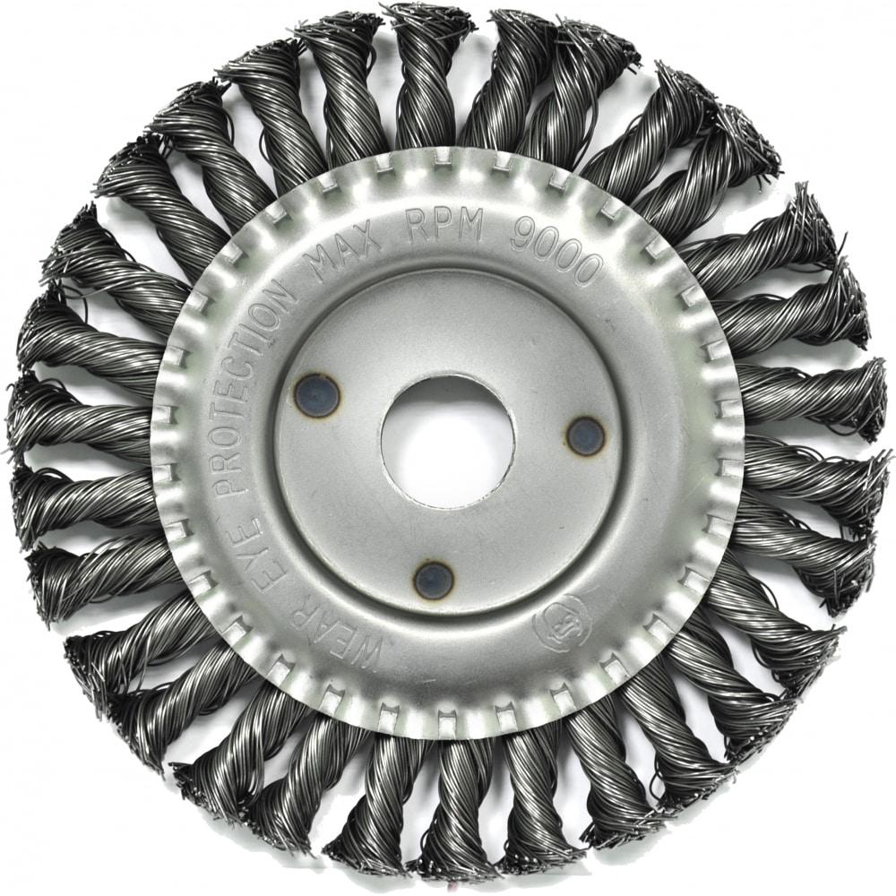 Купить Щетка плоская (150х22.2 мм; витая; сталь 0.5 мм) для ушм elitech 1820.073500