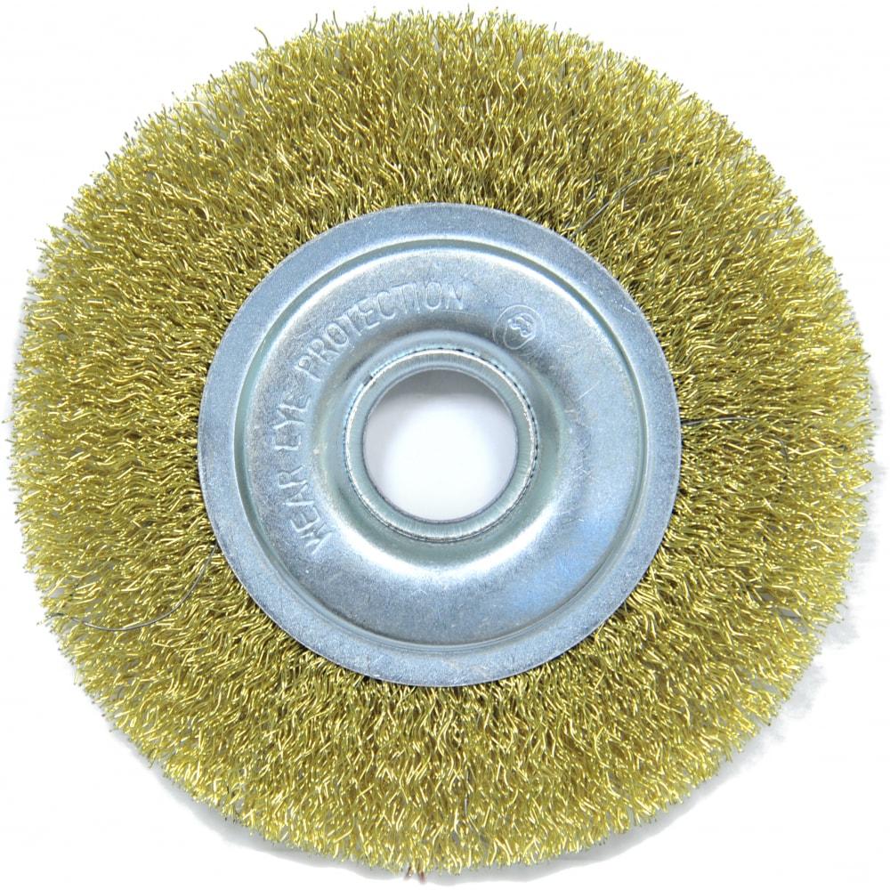 Купить Щетка плоская (125х22.2 мм; латунированная волнистая 0.35 мм) для ушм elitech 1820.074700