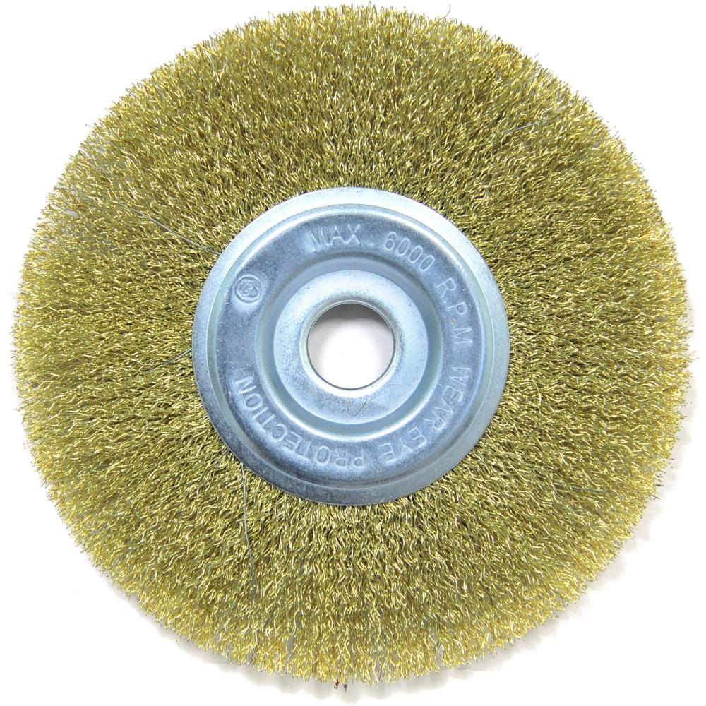 Купить Щетка плоская (175х22.2 мм; латунированная волнистая 0.35 мм) для ушм elitech 1820.074900