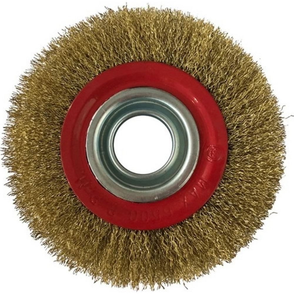 Купить Щетка-крацовка круглая, диаметр 125 мм, посад. диаметр 20/16/13 мм ремоколор 45-2-612