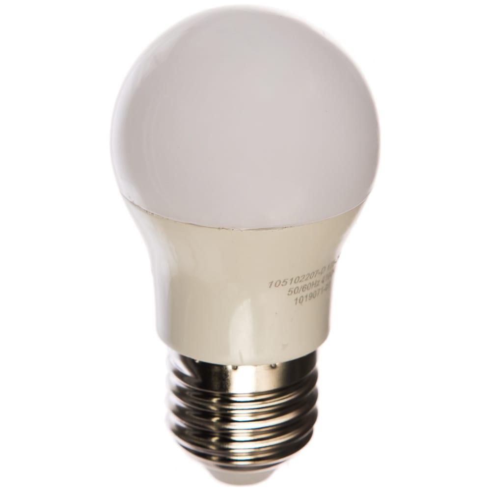 Лампа gauss led шар-dim e27 7w 590lm 4100к 105102207-d.