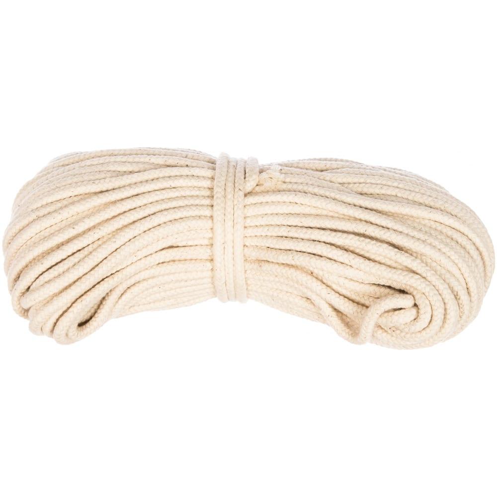 Купить Хлопковая плетеная веревка стройбат 4 мм х 30 м 33216