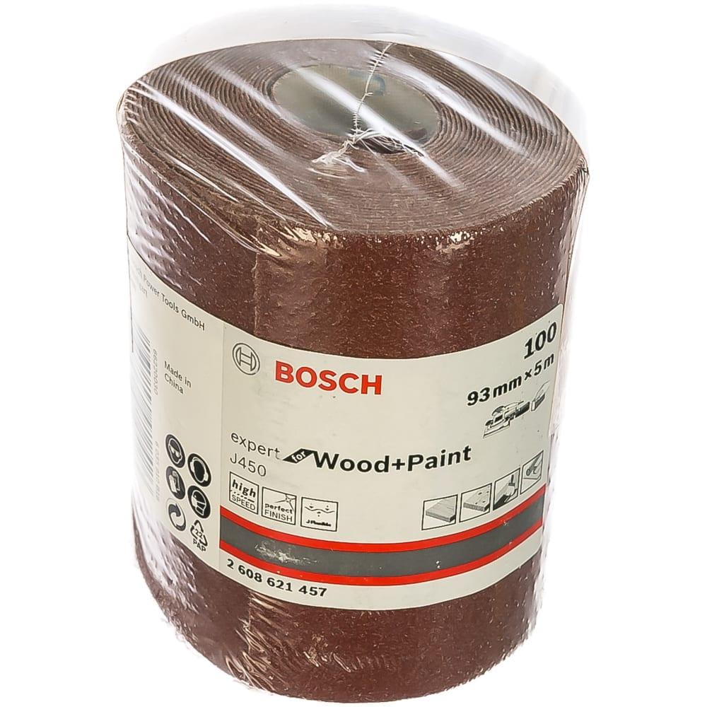 Купить Шлифовальный рулон j450 expert for wood+paint 93x5000 мм, g100 bosch 2608621457