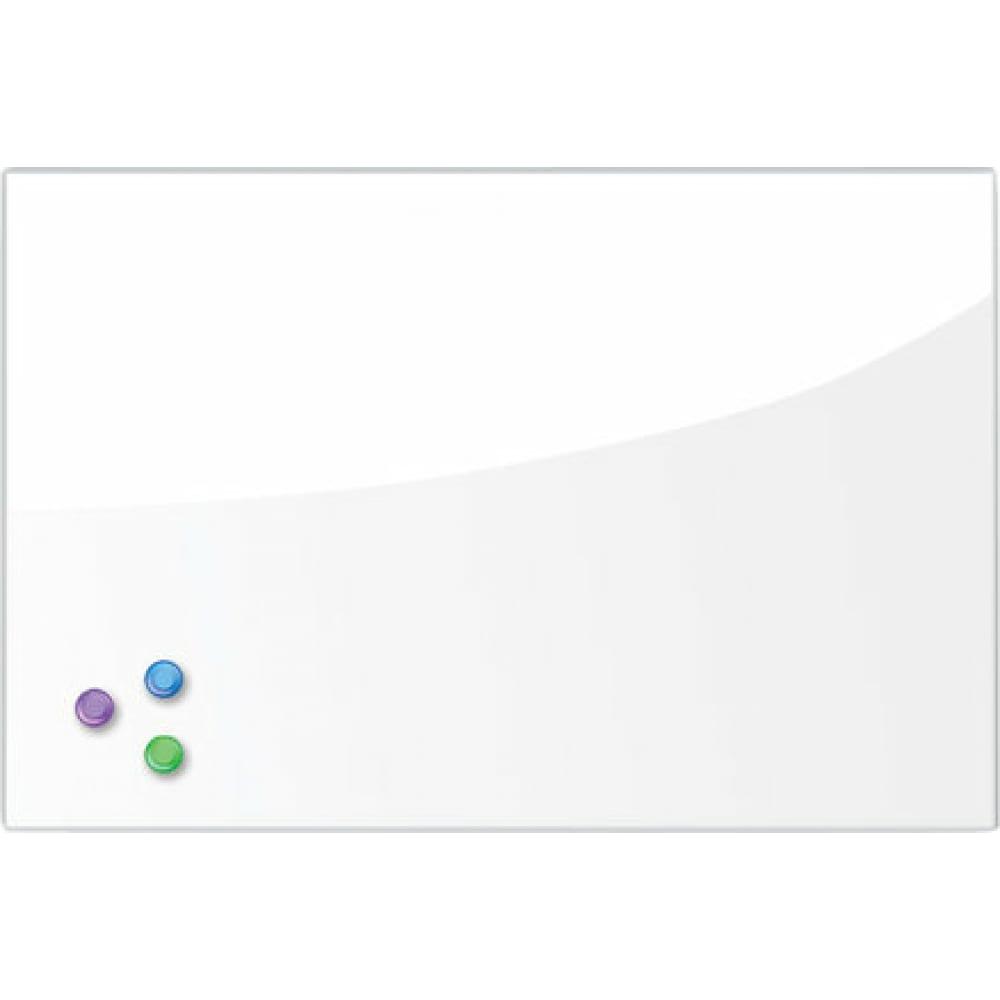 Купить Магнитно-маркерная стеклянная доска, белая, 40х60 см, 3 магнита, brauberg 236744