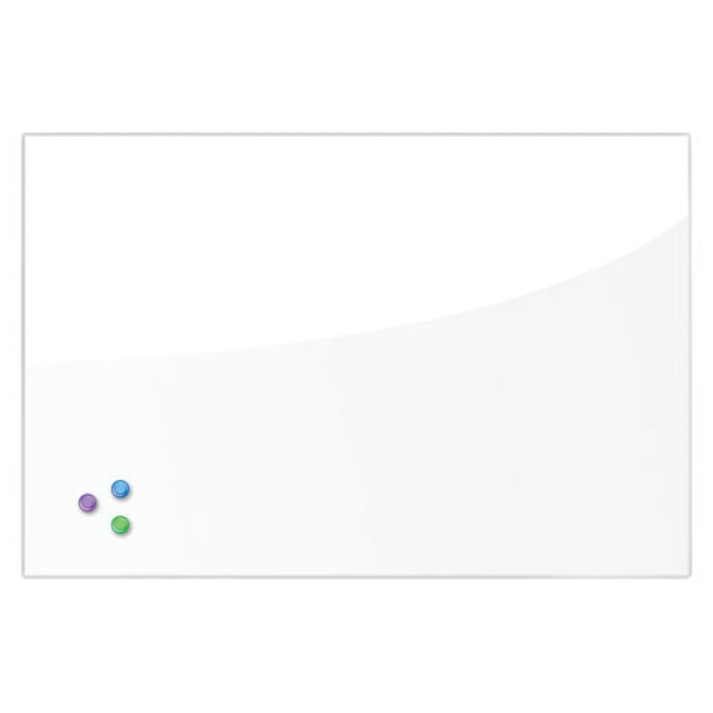 Купить Магнитно-маркерная стеклянная доска, белая, 60х90 см, 3 магнита, brauberg 236747