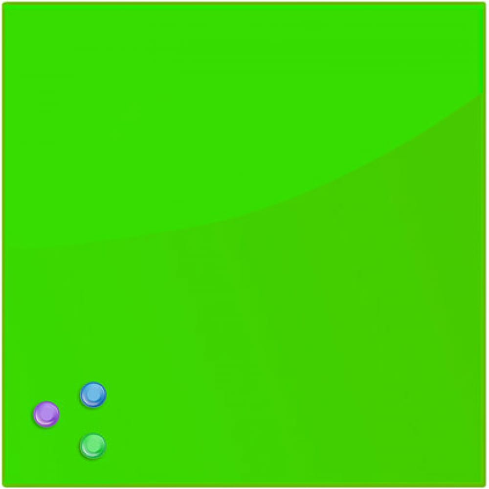 Купить Магнитно-маркерная стеклянная доска, зеленая, 45х45 см, 3 магнита, brauberg 236740
