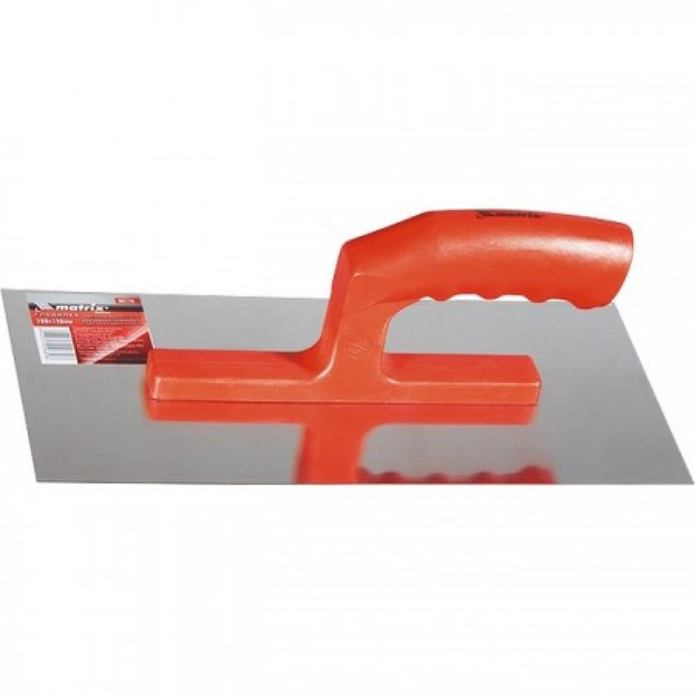 Купить Гладилка из нержавеющей стали, 280 х 130 мм, зеркальная полировка, пластмассовая ручка matrix 86776