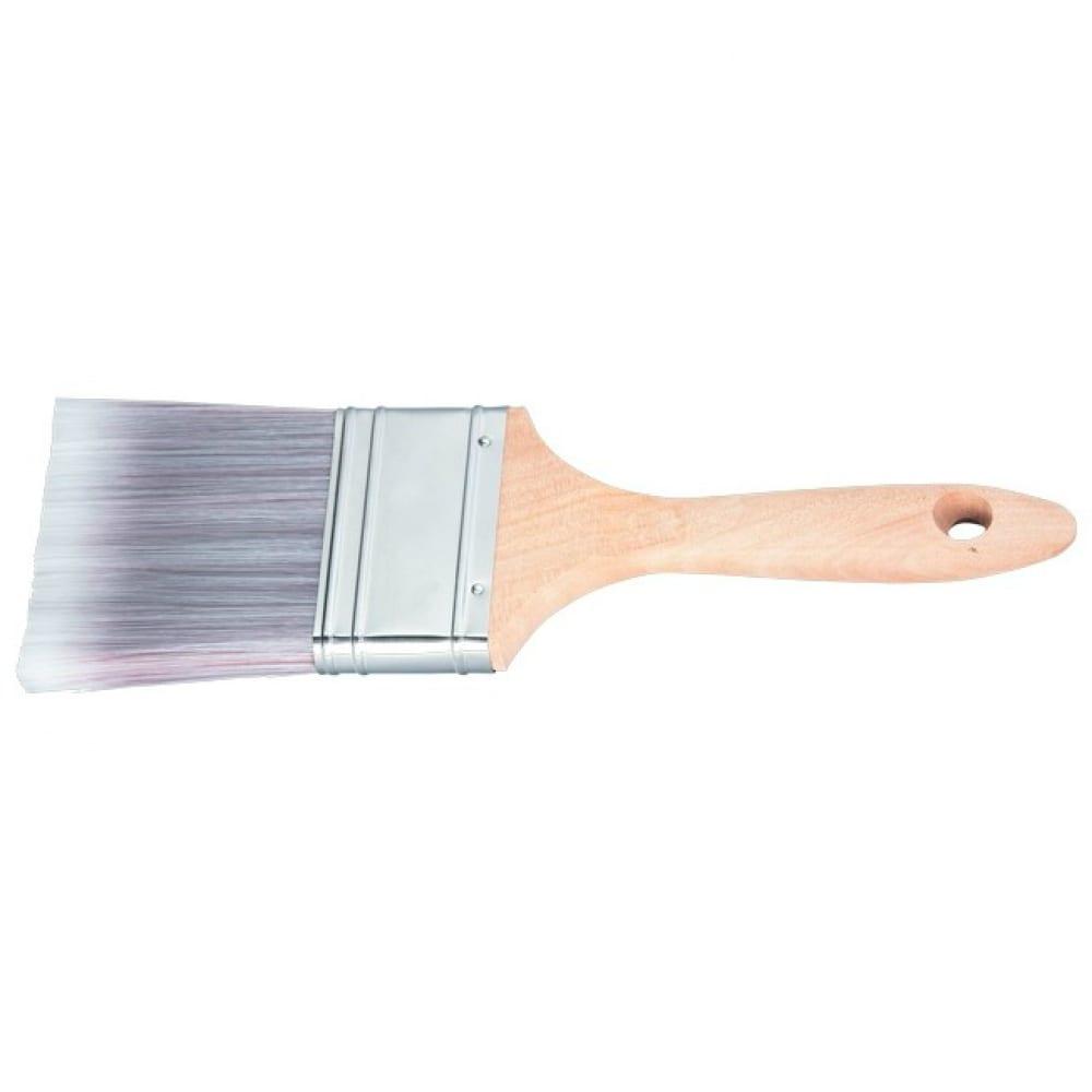 Купить Плоская кисть platinum 1.5 , искусственная щетина, деревянная ручка matrix 83320