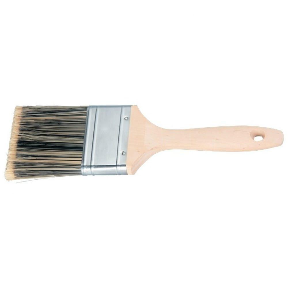 Плоская кисть golden 3 , искусственная щетина, деревянная ручка matrix 83226  - купить со скидкой