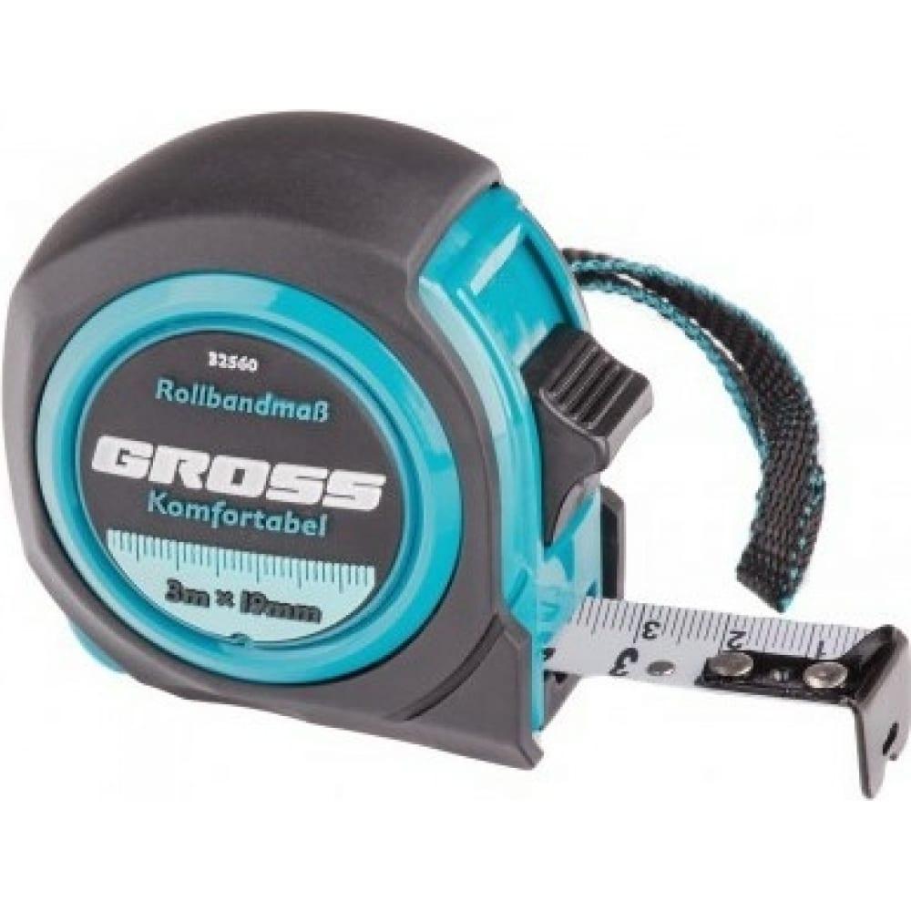 Купить Рулетка komfortabel, 3 м х 19 мм обрезиненный корпус gross 32560