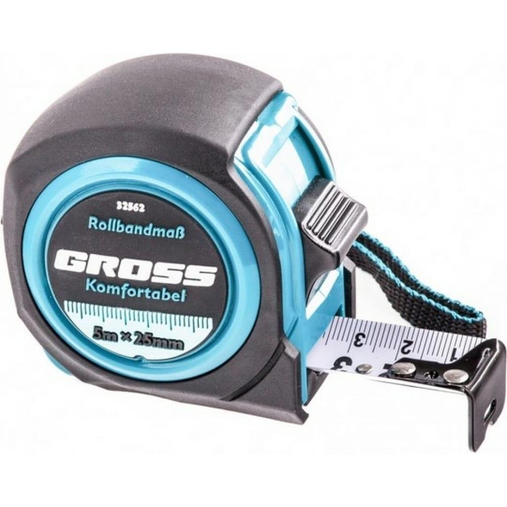 Купить Рулетка komfortabel, 5 м х 25 мм обрезиненный корпус gross 32562