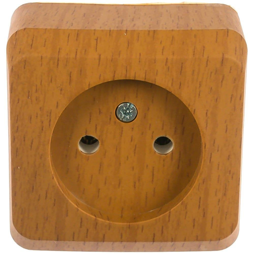 Розетка schneider electric 1-м оп этюд дача 16а ip20 без заземления, бук pa16-001t