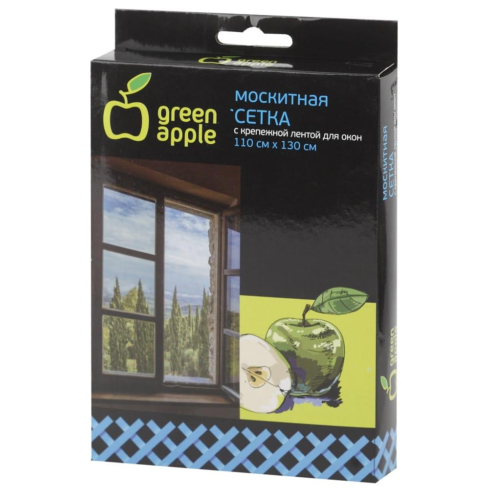 Купить Москитная сетка для окон green apple gbn002 110х130 см сетка + крепежная лента б0032058