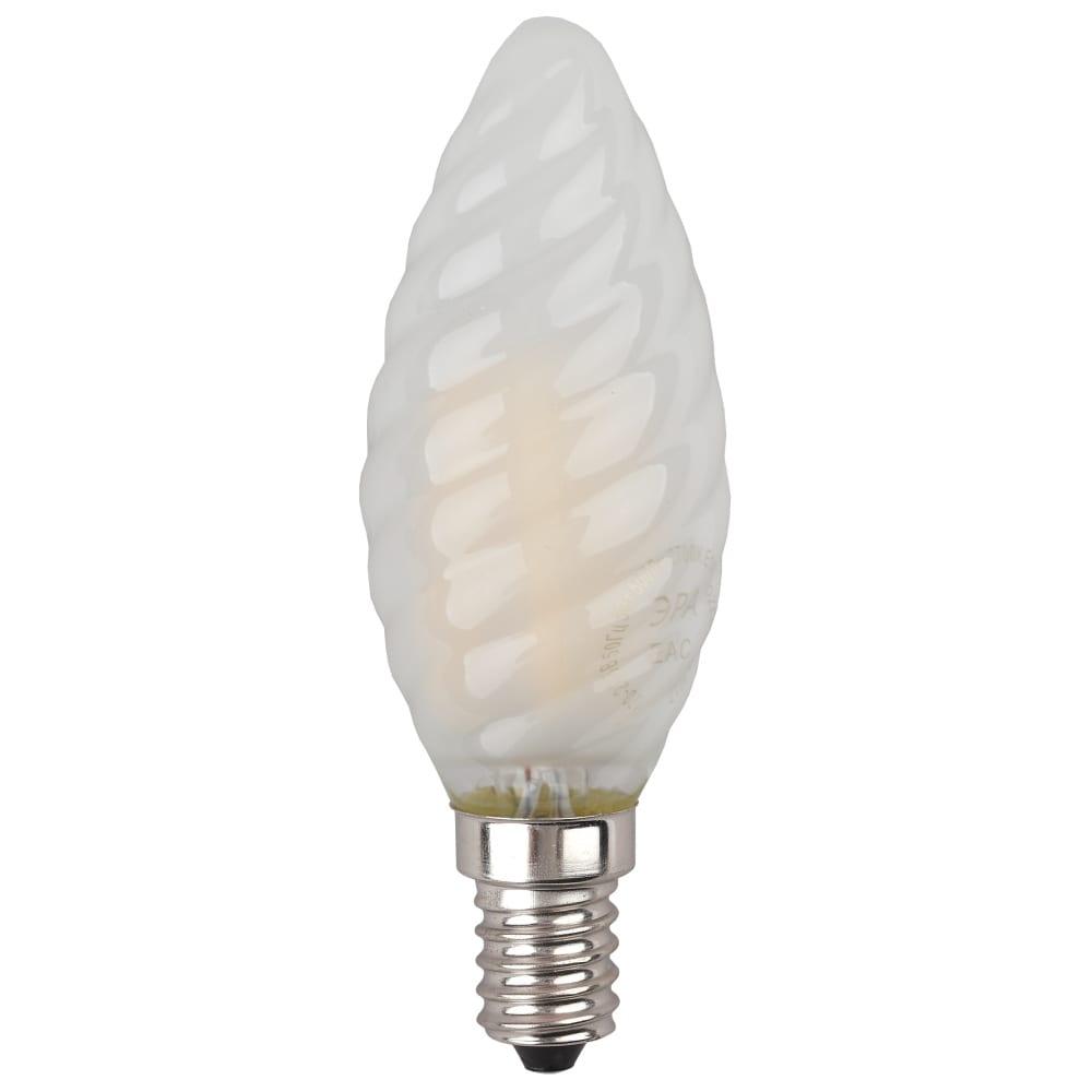 Купить Светодиодная лампа эра f-led btw-7w-840-e14 frost филамент, свеча витая матированная, нейтральный б0027963