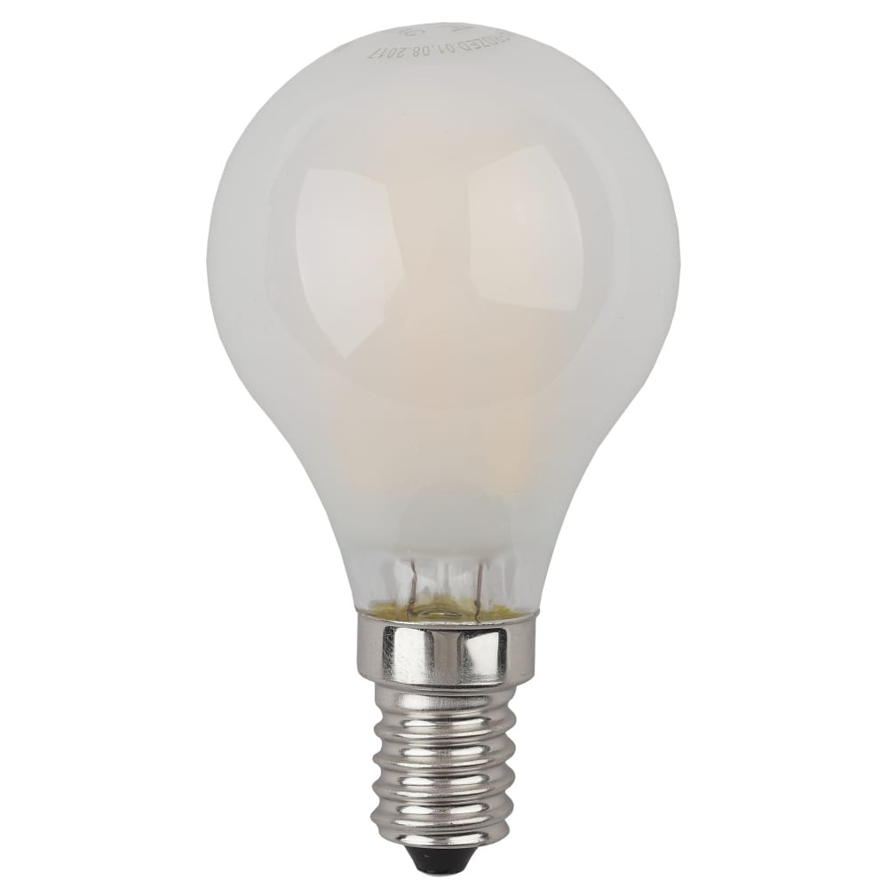 Купить Светодиодная лампа эра f-led p45-5w-827-e14 frost филамент, шар матированный, теплый б0027929
