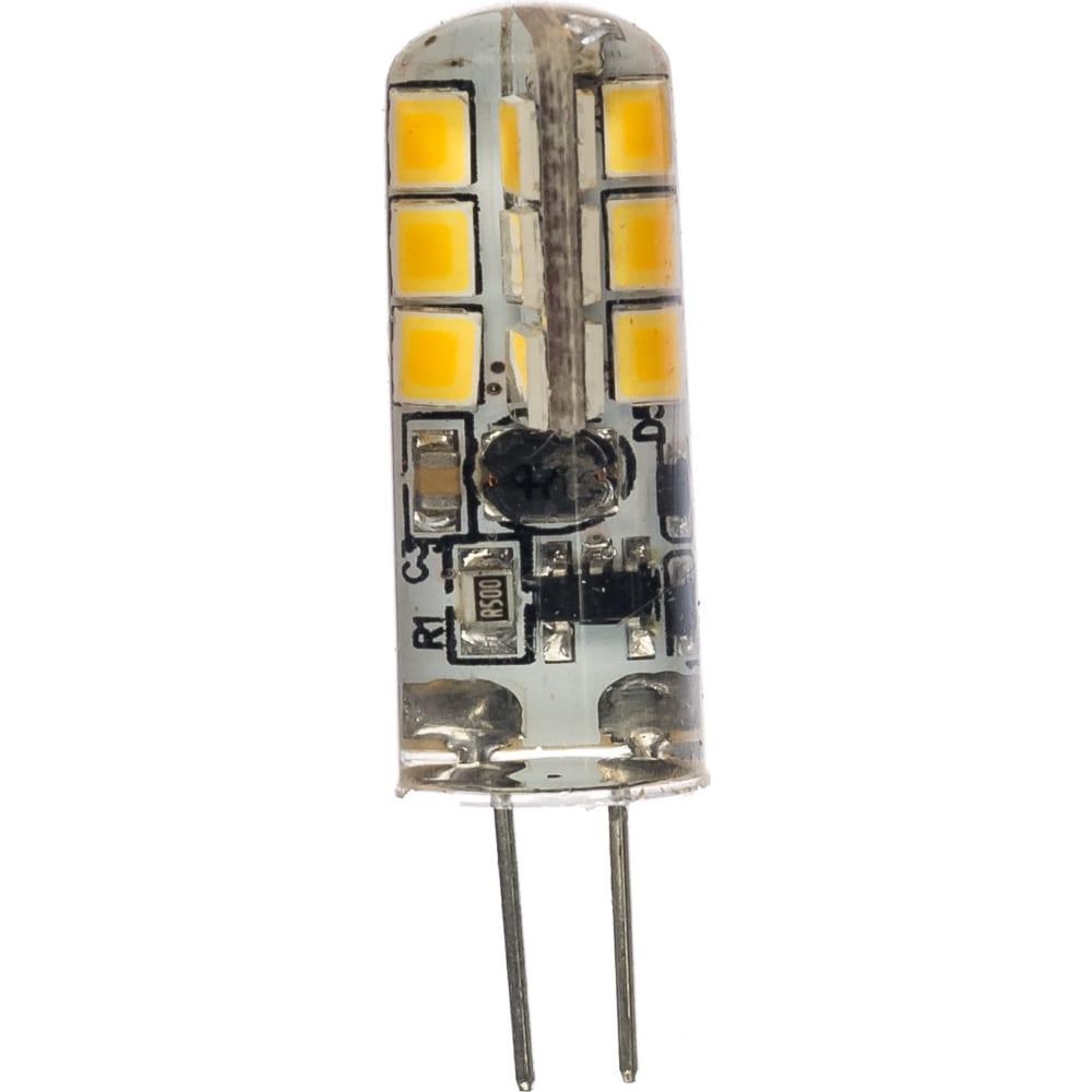 Светодиодная лампа эра led jc-1,5w-12v-827-g4, капсула, теплый б0033188