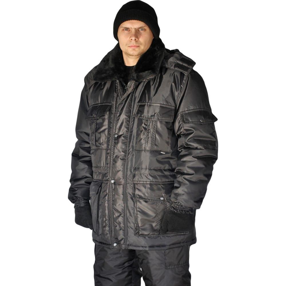 Купить Зимняя мужская куртка ursus охрана черная кур606-280, размер 52-54, рост 170-176