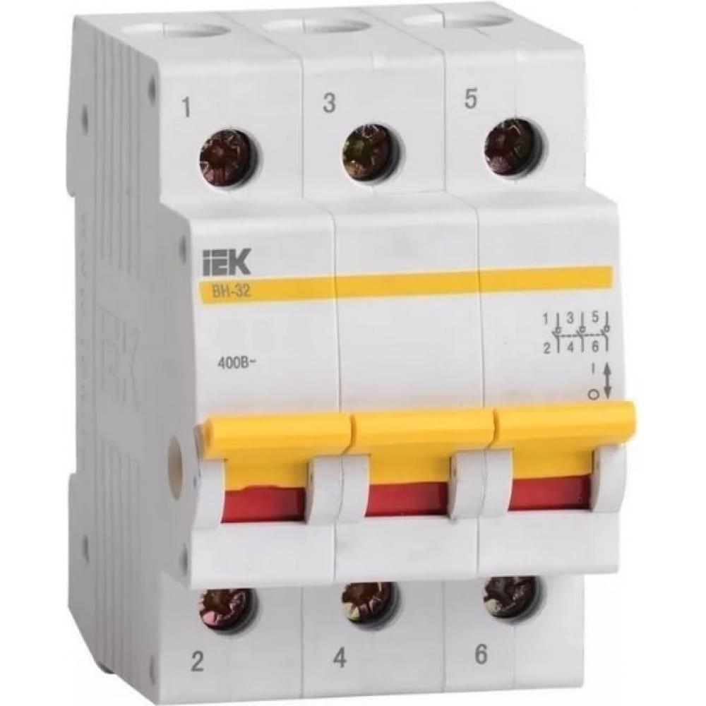 Выключатель нагрузки iek вн-32 63а/3п иэк mnv10-3-063