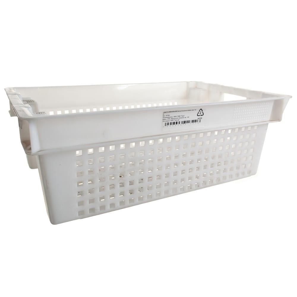 Купить Белый ящик п/э 600х400х200, вес 1, 4 кг тара.ру 01722