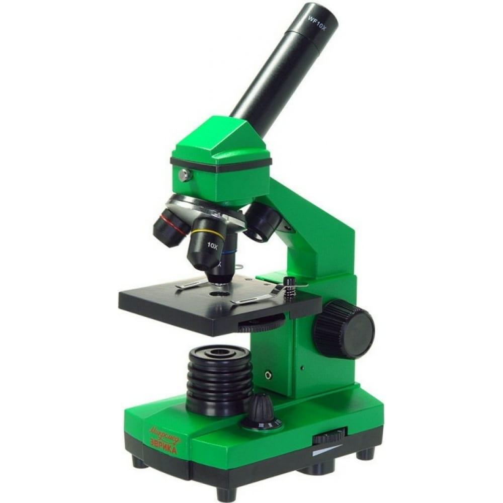 Купить Школьный микроскоп микромед эврика 40х-400х в кейсе (лайм) 25447