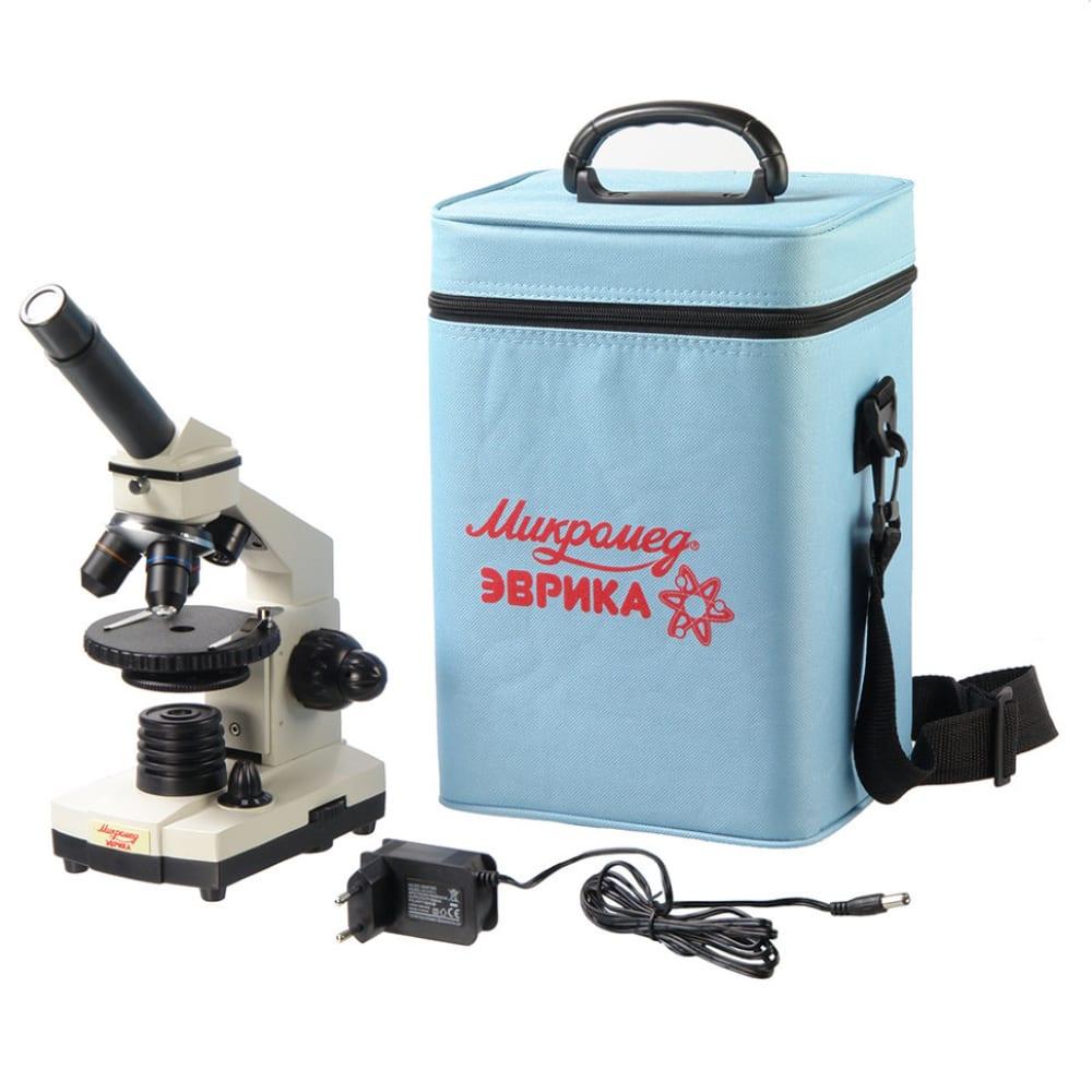 Купить Школьный микроскоп микромед эврика 40х-1280х в текстильном кейсе 22831