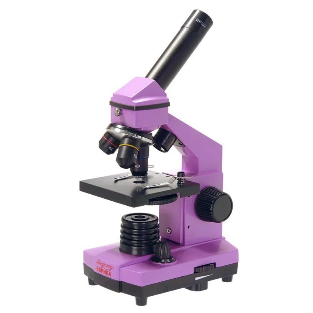 Купить Школьный микроскоп микромед эврика 40х-400х в кейсе (аметист) 25448