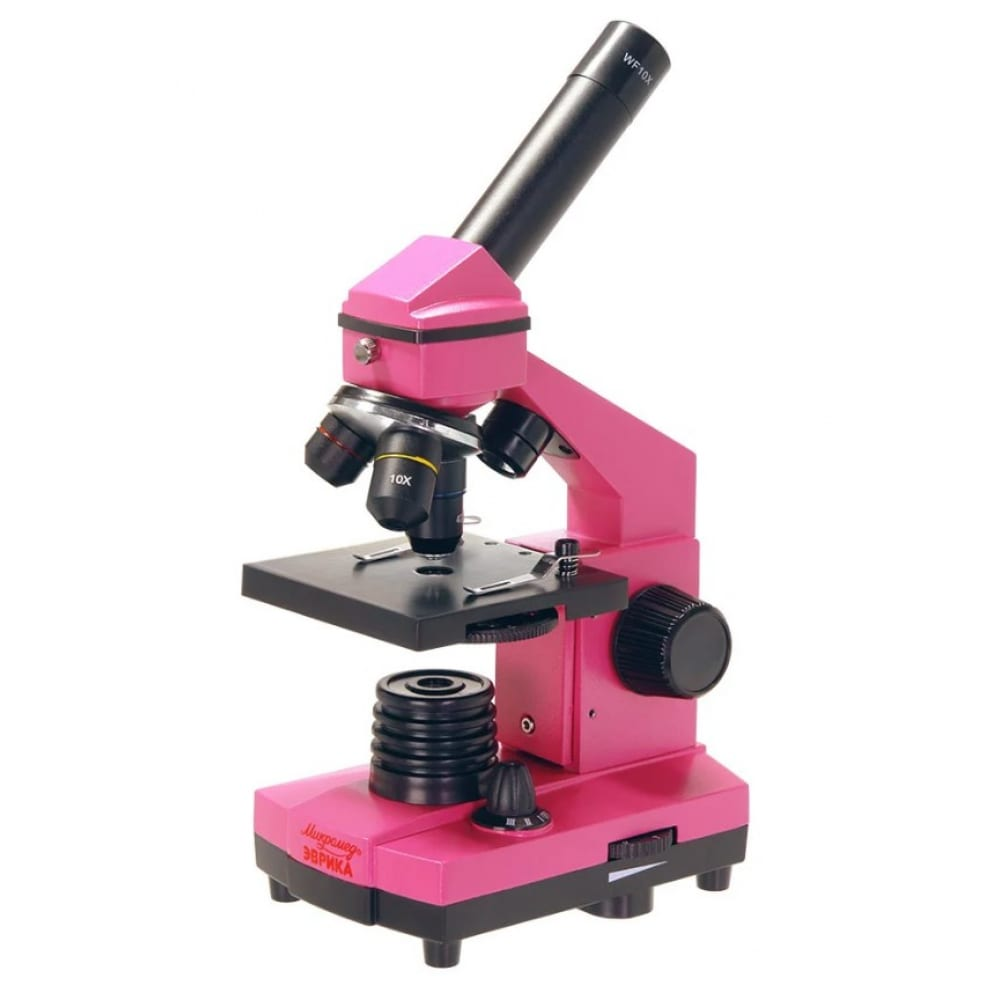 Школьный микроскоп микромед эврика 40х-400х в кейсе (фуксия) 25449  - купить со скидкой