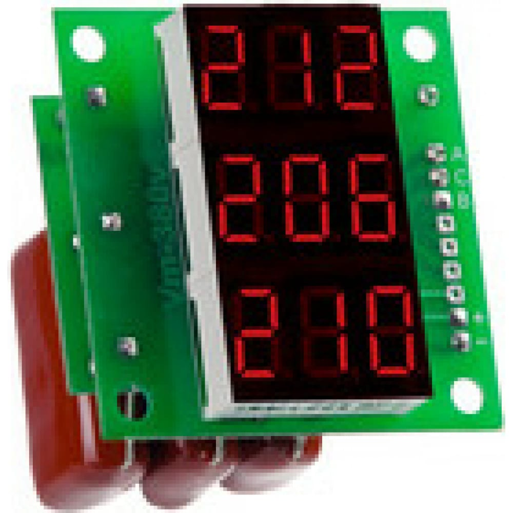 Вольтметр digitop вм-14 3х220в red
