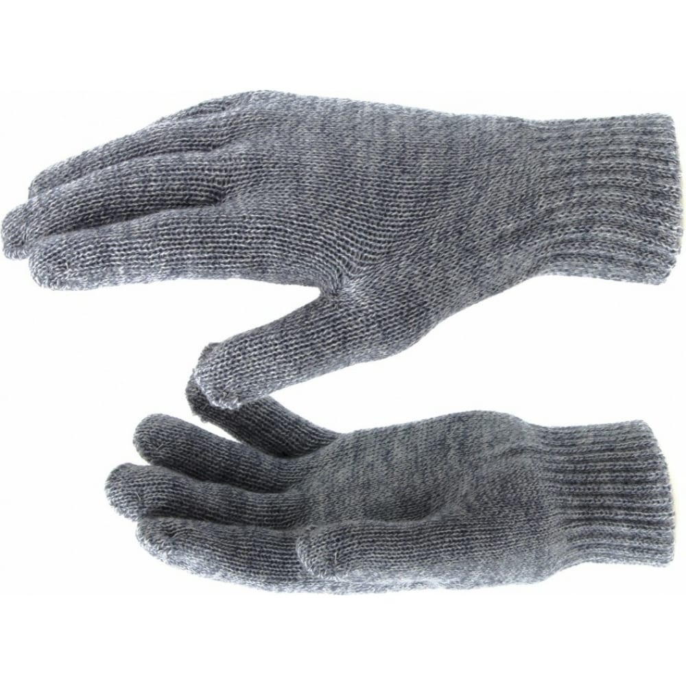 Купить Трикотажные перчатки с двойной манжетой сибртех, акрил, цвет серое мулине 68684