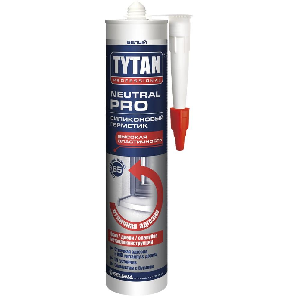 Купить Силиконовый герметик tytan professional neutral pro универсальный, белый 310мл 93572