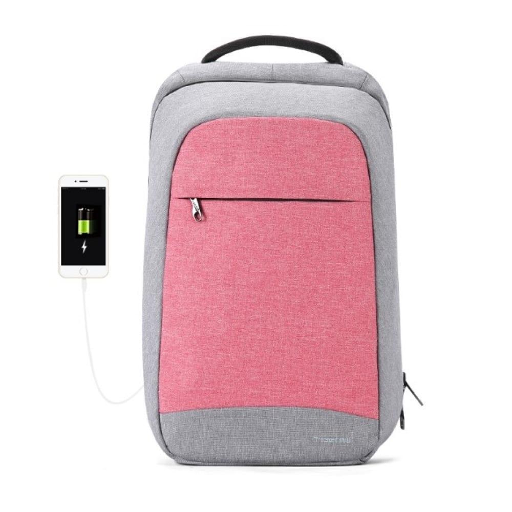 Рюкзак tigernu t b3335 розовый, 15,6